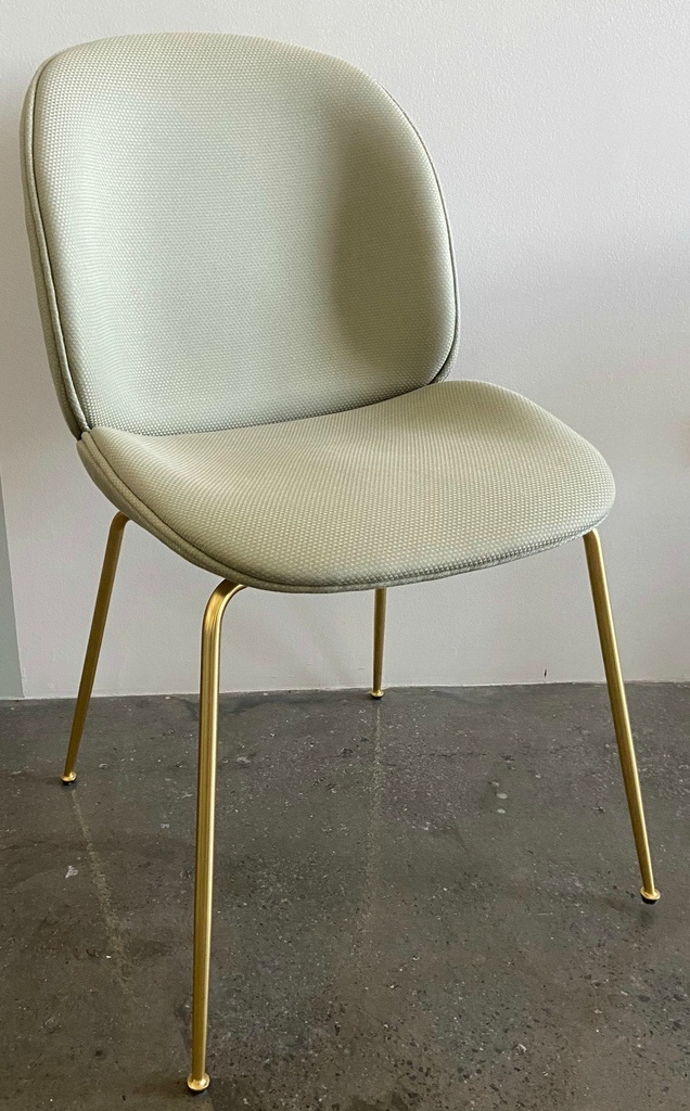 Beetle Dining Chair - Fully upholstered / Brass / Backhausen Solo M8797A01 9