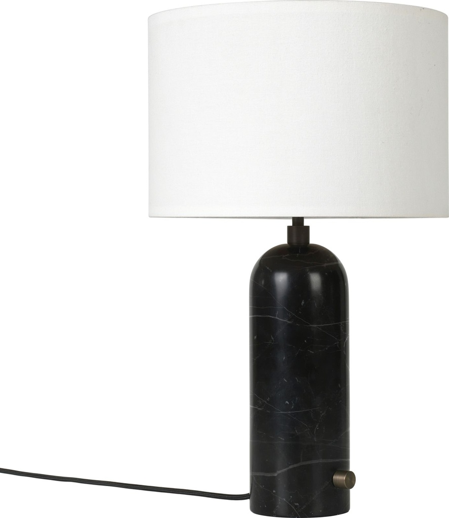Gravity Table Lamp - Small / Black marble / White