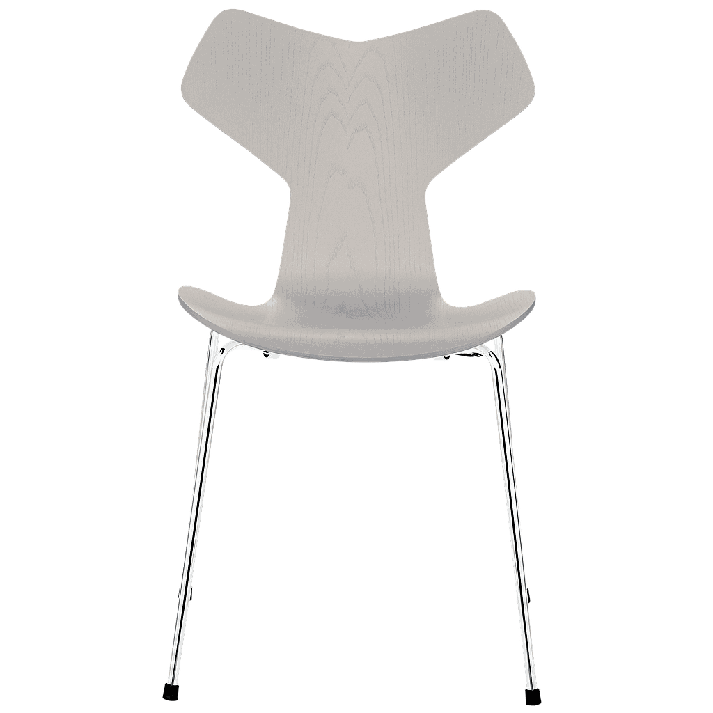 3130 - Grand Prix Chair chrome base Front upholstered-Coloured ash