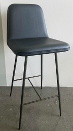 Spine Metal Base Barstool - Model 1931 / Leather Premium 88 Black
