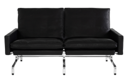 PK31/2 - 2-seater Sofa / Leather Classic black