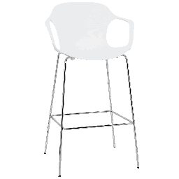 KS69 - Nap Barstool / Chrome / Pepper grey