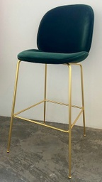 Beetle Bar Chair - Fully upholstered / Brass / GUBI Velvet 787 (layby)