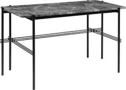 TS Desk / Black / Grey Emperador marble