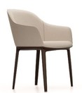 Softshell Chair - Four-legged base / Chocolate / Dumet beige-grey